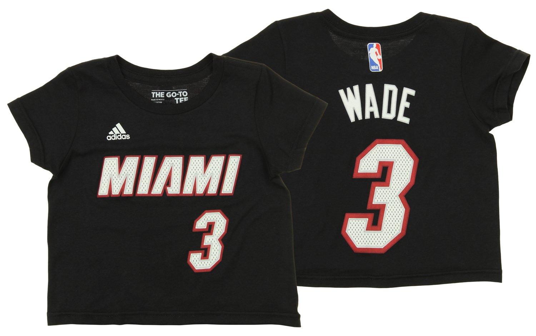 adidas NBA Toddler's Miami Heat Dwyane Wade Short Sleeve Game Time Tee OuterStuff