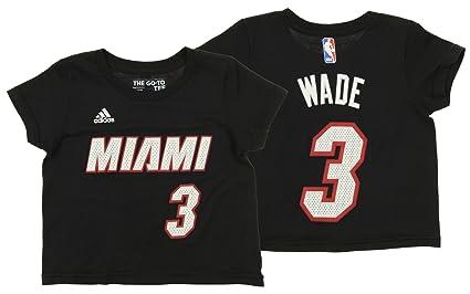 d1e39f3a19e adidas NBA Toddler's Miami Heat Dwyane Wade Short Sleeve Game Time Tee,  Black