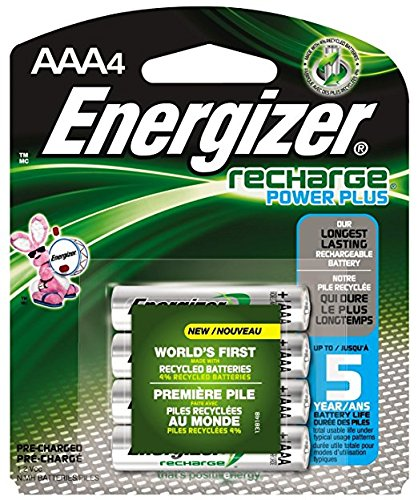 - Energizer NiMH Rechargeable Batteries, AAA