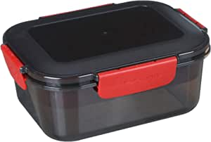 M Design Lunch Box, 1.6 Liter - Black and Red