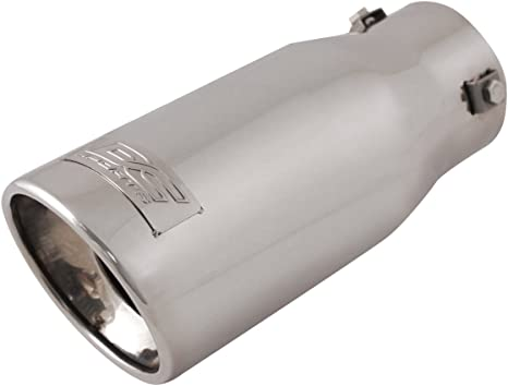 """Pilot Automotive Stainless Steel Bolt-On Exhaust Tip 9/"""" Long Fits 1 3//4-2.5/"""""""