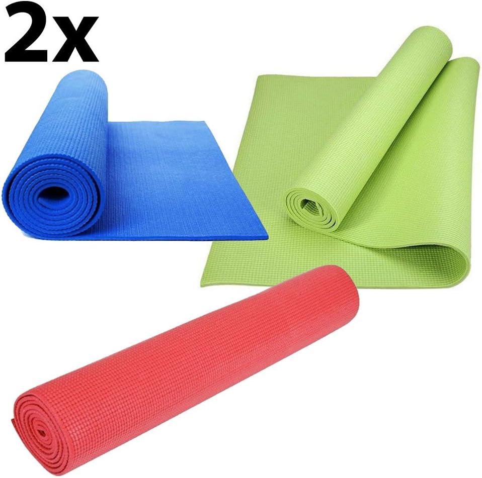 Vinciann 2 x Alfombrilla Yoga Gimnasio Alfombra Colchoneta Fitness Sport 61 x 173 x 0,4 cm 2ym6: Amazon.es: Electrónica