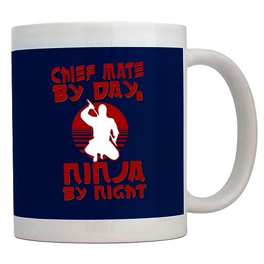 Teeburon Chief Mate by Day, Ninja by Night Taza: Amazon.es ...