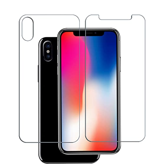 huge discount d6097 8001b coopsion iPhone X Screen Protector Glass (Front and Back) iPhone X Tempered  Glass Screen Protector Front and Back for Apple iPhone X