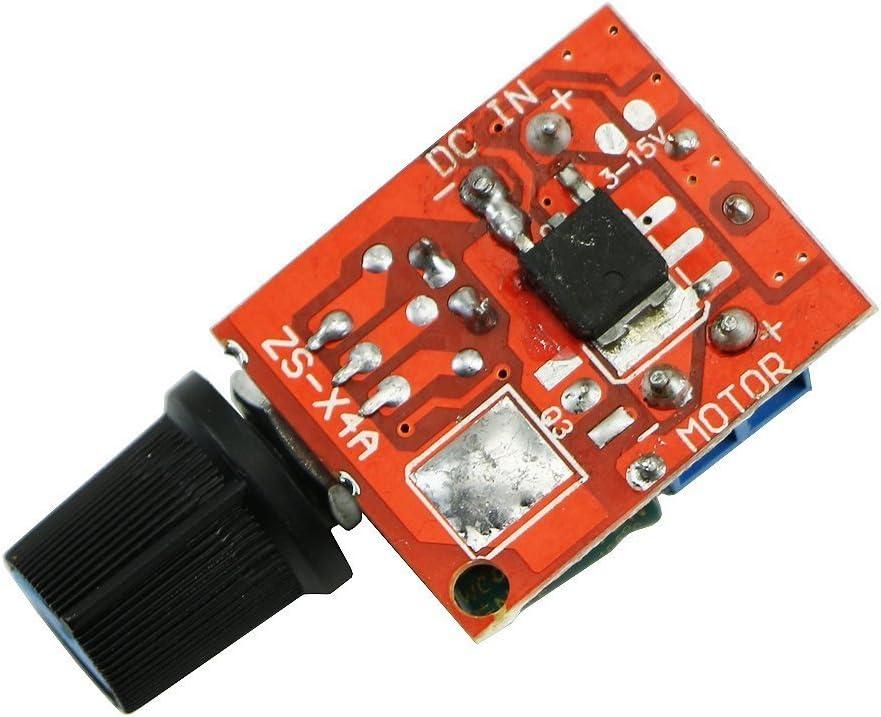 Mini DC Motor PWM Drehzahlregler 5A 4.5V-35V Drehzahlregelung Schalter Dimmer G9