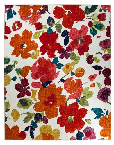 Beautiful spring decor brighten your home for Bright floral area rugs