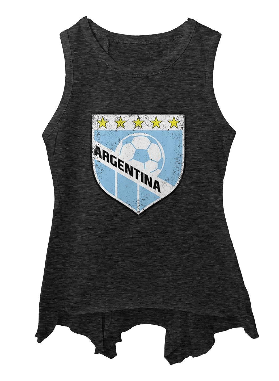 Tcombo Argentina Soccer Distressed Badge Toddler//Youth Sleeveless Backswing