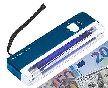 UV de billetes falsos de la lámpara de luz de billetes de dinero comprobador de dinero Euro con símbolo del dólar: Amazon.es: Hogar