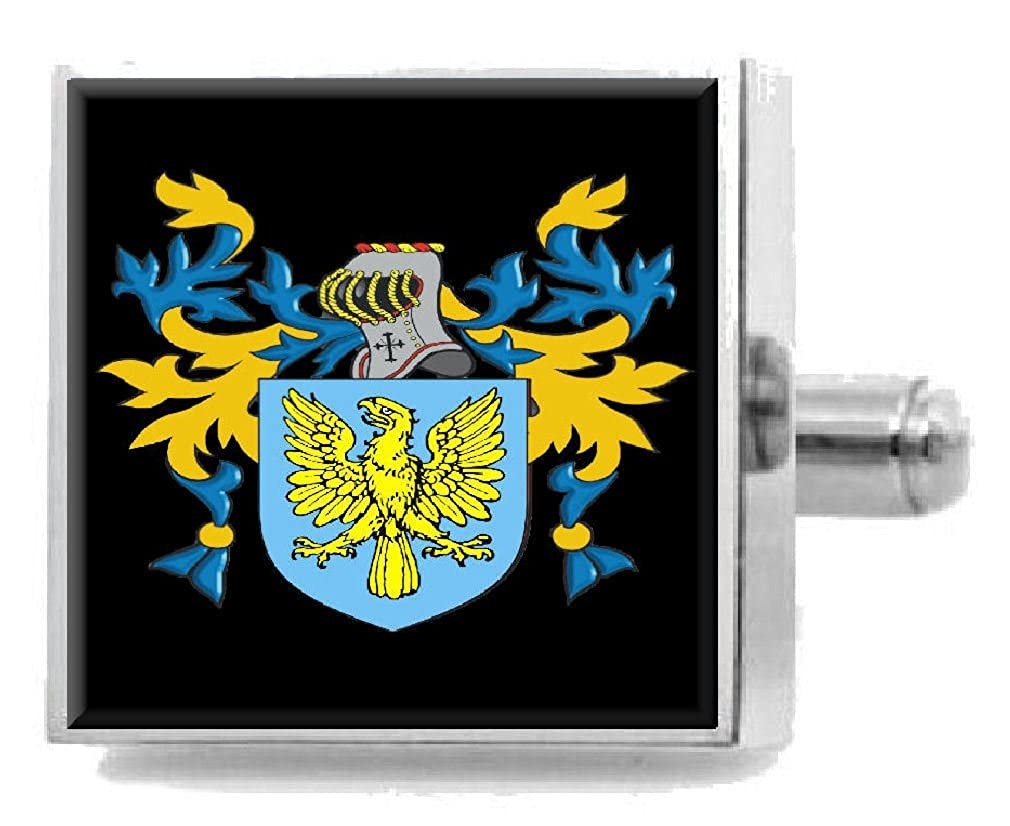 Select Gifts Whitford Wales Family Crest Coat Of Arms Sterling Silver Cufflinks Engraved Box