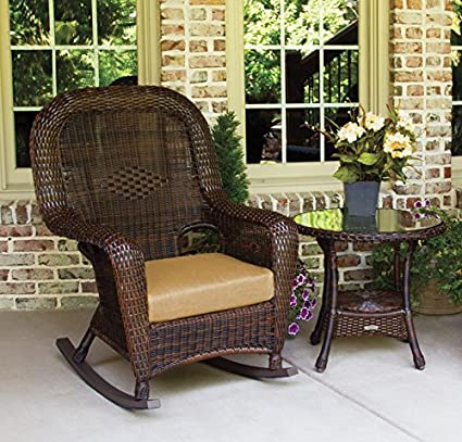 Amazon Com Tortuga Outdoor Porch Wicker Rocking Chair And Side