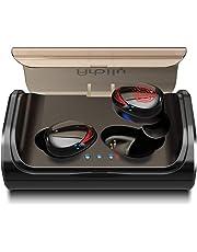 Arbily Auriculares Bluetooth, Auriculares Inalámbricos Bluetooth 5.0 Estéreo Hi-Fi Sonido IPX6 Resistentes al Agua, 90 Horas Autonomía 3000mAH Estuche de Carga para la Mayoría de Móviles (Luz Rojo)