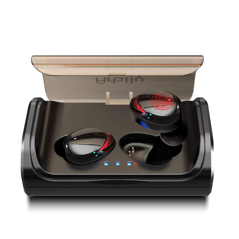 Arbily Bluetooth Kopfhörer Kabellos True Wireless IN Ear Earbuds mit Portable Ladebox 3000 mAh,135 Stunden Spielzeit IPX6 Wasserdicht Bluetooth 5.0 Ohrhörer Sport,Power Bank für Smartphone