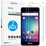 OMOTON BLU R1 HD Screen Protector [2 Pack] - [COVER FULL DISPLAY SCREEN] [2.5D Round Edge] [9H Hardness] [High Definition] [Bubble Free] Tempered Glass Screen Protector for BLU R1 HD, 5.0 Inch
