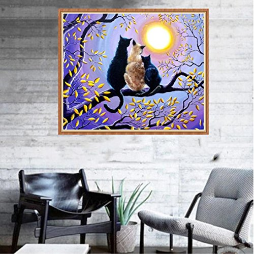 Pandaie To America!!! Love Cat 5D Diamond Painting Full Drill Kits for Adults Embroidery Cross Stitch(all 5% off, three 10% off)
