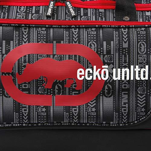 "Ecko Unltd. 32"" Steam Collection Rolling Duffel, Red"