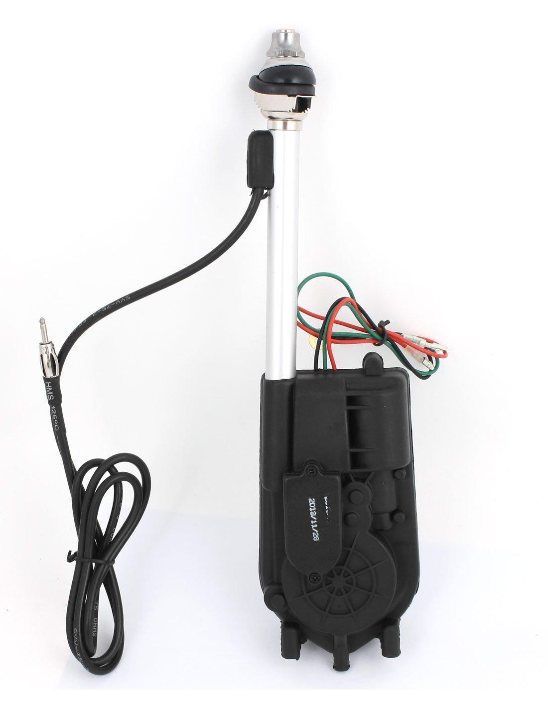 Amazon.com: uxcell DC 12V Universal AM FM Radio Electric Automatic Antenna  Black BF-686: Electronics