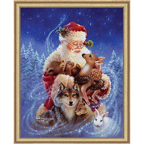 Heaven and Earth Designs Santa's Little Friends Counted Cross-Stitch Chart (Santa Cross Stitch Chart)