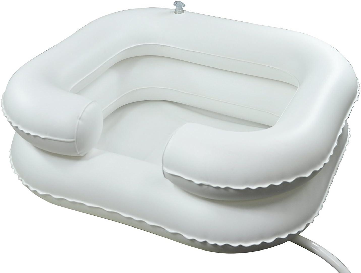 Champú hinchable para lavabo baño ayuda lavar el pelo en la cama
