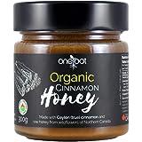 ONEROOT Organic Cinnamon Honey 300g - Organic Ceylon True Cinnamon and Organic Northern Wildflower Raw Honey