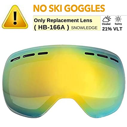 05dab8ca9e4f Amazon.com   Snowledge Ski Goggles Extra Replacement Lens Snow ...