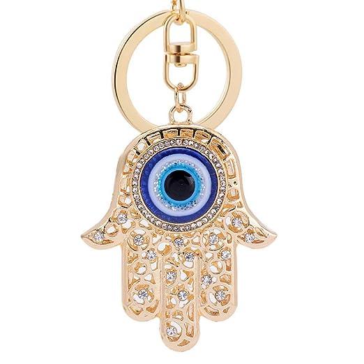 XYAYA Llavero Mano Ojo Afortunado Encanto Amuleto Hamsa ...