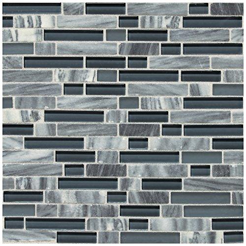 Glacier Tile Flooring - Dal-Tile 58RANDMS1P -SA59 Stone Radiance Tile, Glacier Gray Marble Blend