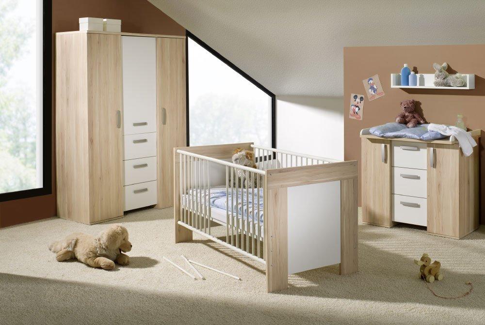 Kompl. Kinderzimmer Babyzimmer Wickelkommode weiss 4tlg
