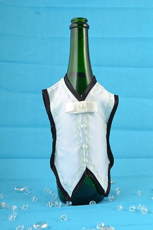 Hecho a mano para boda satén), diseño de botella de champán cola ...