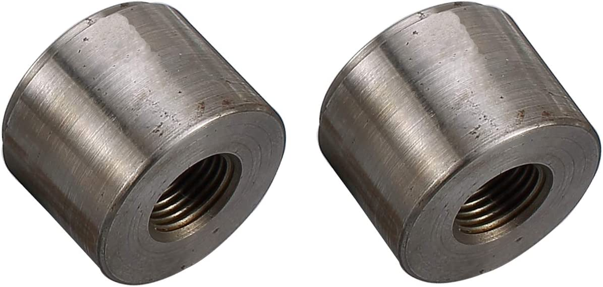 Pack of 2 Natural AC PERFORMANCE Steel Female 1//2 NPT Weld On Bung 1//2 Weldable Fuel Tank Fitting
