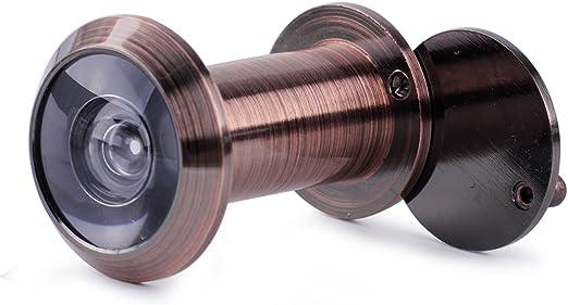 Security Door Eye Spy Hole Peephole Viewer 200° Adjustable Glass Lens Sales