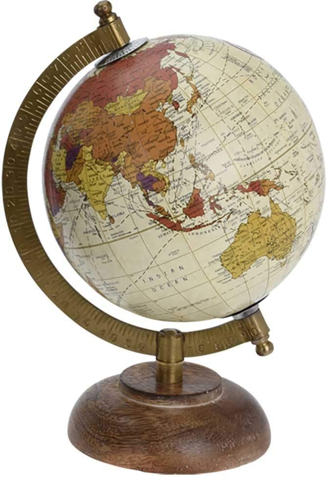 made2trade Globe terrestre au design rétro