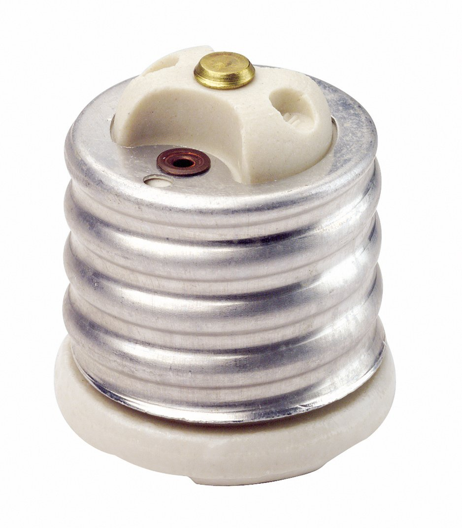 Leviton 8681 Glazed Porcelain Incandescent Lampholder Adapter