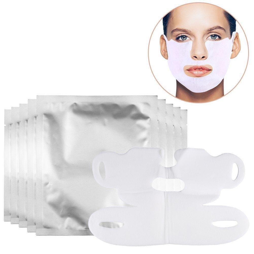 10 Stück V-förmige dünne Gesicht Hydrotherapie Whitening ziehen Maske für Hals und Kinn heben Anti-Aging, reduzieren Falten, dunkle Flecken und feine Linien ZJchao