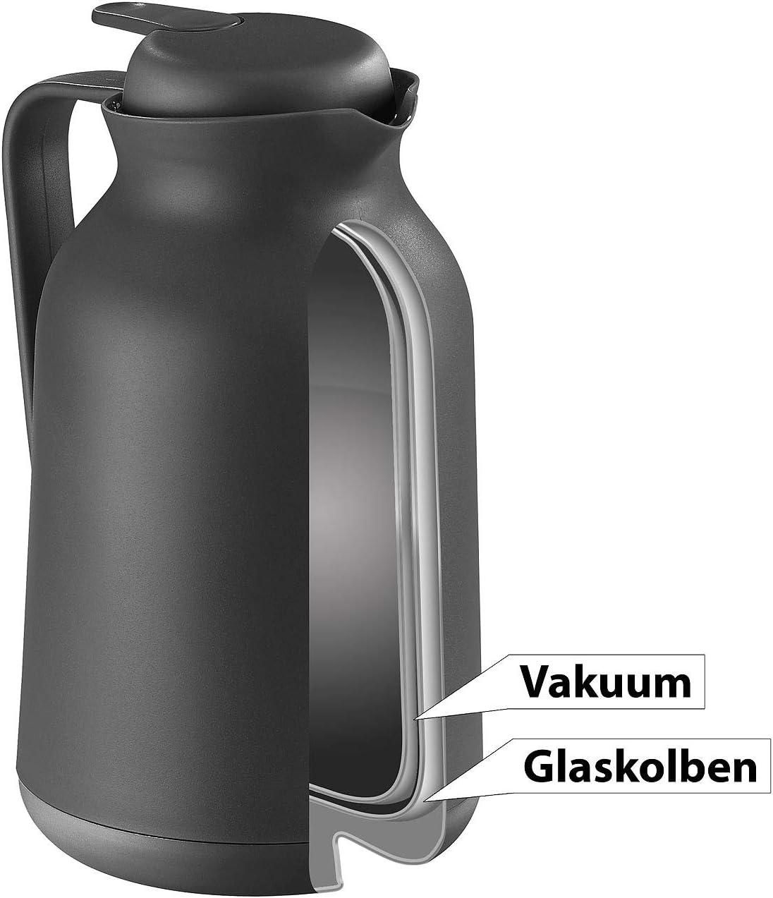 mit Teesieb Rosenstein /& S/öhne 2in1-Vakuum-Isolierkanne f/ür Kaffee und Tee 1 Liter