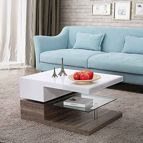 Nurxiovo Swivel Coffee Table W/Glass Furniture
