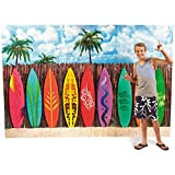 Plastic Surf's up Surfboard Backdrop Banner Photo Prop