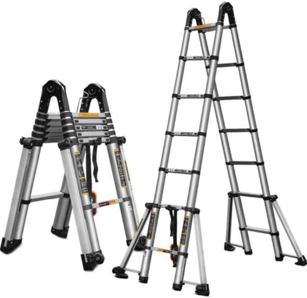 JLDN Extensión Escalerilla, Escalera de Tijera de Aluminio Antideslizantes Función Decoración extensión multipropósito Multi Herramienta 4,0 mm de Espesor,1.8+18m/5.9+5.9ft: Amazon.es: Hogar