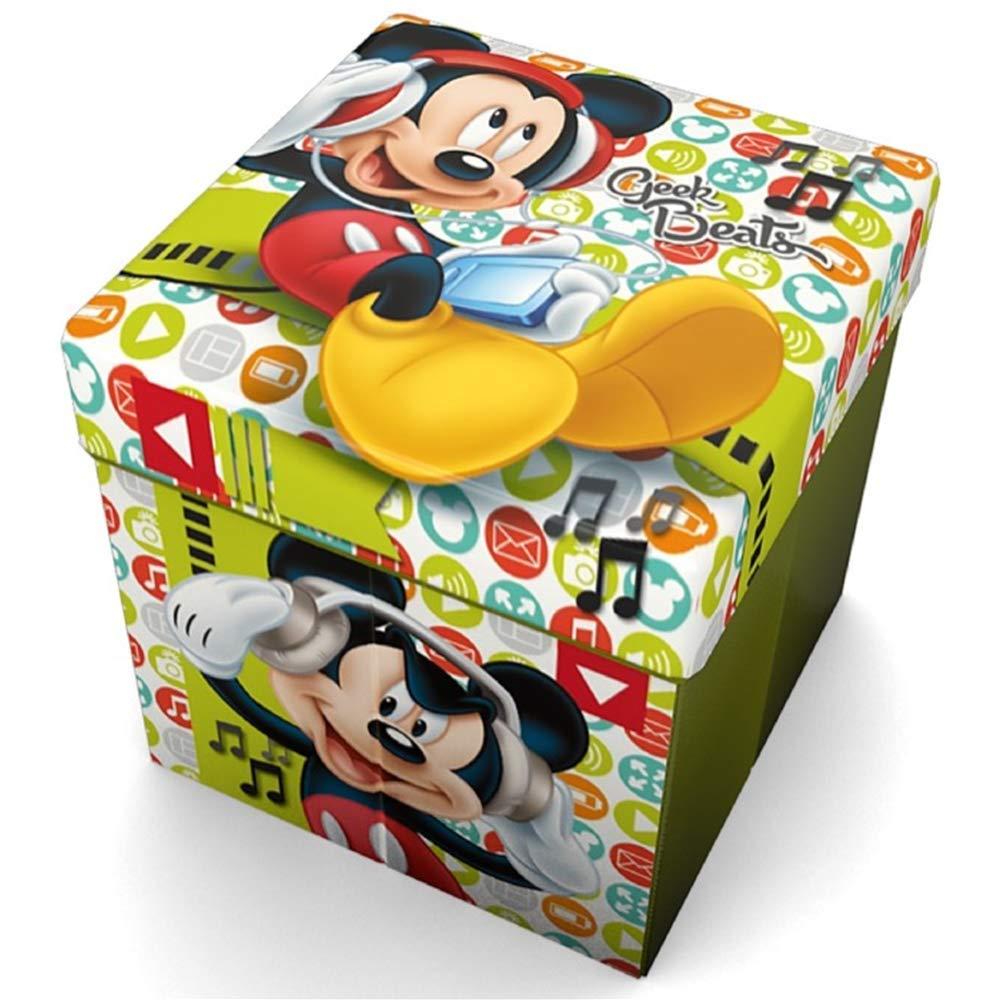 POUF Topolino Mickey Mouse Disney Contenitore Sedia CM. 32X32X32 - 54671