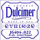D\'Addario J6404 Nickel Wound Dulcimer Single String, .022