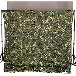 Ginsco 6.5ft x 10ft 2mx3m Woodland Camouflage Netting Desert Camo Net Camping Military Hunting Shooting Blind Watching Hide Party Decorations