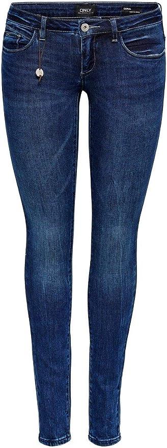ONLY Damen Hüft Jeans Hose onlCORAL SL SK skinny superlow 4 Way Stretch Denim