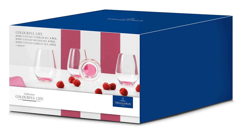 Villeroy /& Boch Colourful Life Vaso sin 4P Berry Fantasy Cristal Cristal