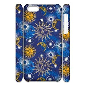 LJF phone case Sun Moon Pattern Unique Design 3D Cover Case for Iphone 5C,custom cover case ygtg543986
