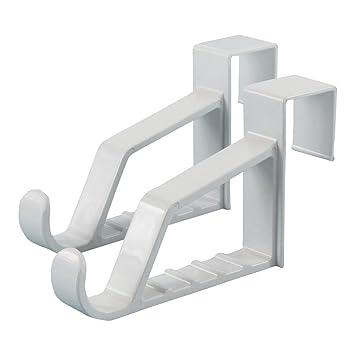 Hangerworld 7u201d Plastic Strong Over The Door Hooks For Coats / Clothes /  Towels,