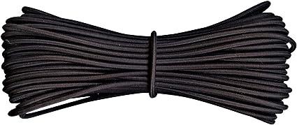 """3/""""mm Forte Rond Sandow élastique élastique à coudre ameublement vêtements-Noir ✅"""