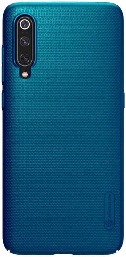 ZFLL Protector de Pantalla para Xiaomi Mi 9 Mi9 Mi 8 Mi8 K20 Mi 9T Pro Funda Nillkin Super Frosted Shield Funda Trasera para Xiaomi Mi9 Mi8 SE Mi5 Mi6 Funda para teléfono, Verde, para Xiaomi