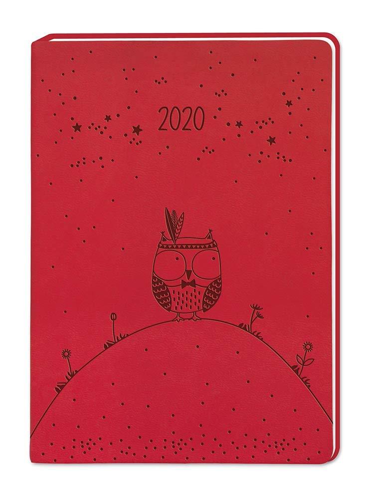 Terminplaner Lederlook A6 'Rot' 2020