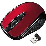 サンワサプライ ワイヤレスマウス 超小型レシーバー光学式マウス レッド MA-WH121R