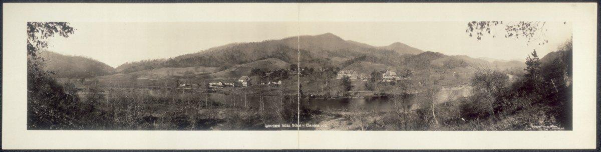 c1909 Government Indian School, Cherokee, N.C. 30'' Vintage Panorama photo