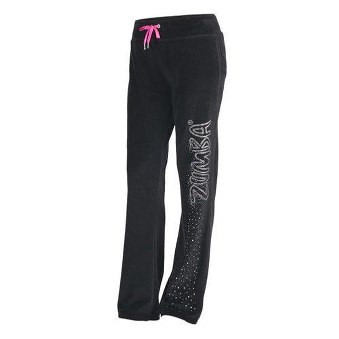 cb6fe04cbddd Amazon.com  Zumba Fitness UK Gleam Velour Track Pants (X-Small ...